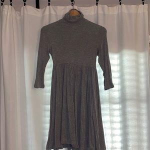 Grey turtleneck dress - super stretchy